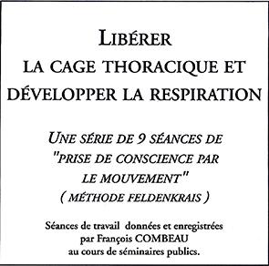 Acheter CD Audio MP3 formations Feldenkrais de François Combeau